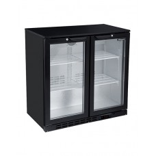 Blizzard LOWBAR2: Low Height Back Bar Beer Fridge - 2 Hinged Doors
