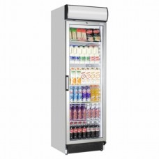 Interlevin FSC1380: 372ltr WhiteGlass Door Display Fridge