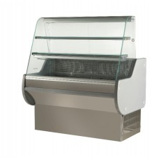 ES System K Astrella AST100SL/SS: 1m Slimline Static Serve Over Counter with 2 Tiers - Stainless Steel