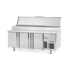 Infrico BMGN1960EN: 3 Door Refrigerated Prep Counter 700mm Deep - 460ltr