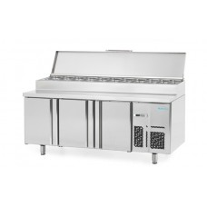 Infrico BMPP2000EN: 3 Door Refrigerated Prep Counter 600mm Deep - 385ltr