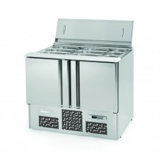 Infrico ME1003BAN: 3 Door Stainless Steel Refrigerated Gastronorm Saladette Counter - 355Ltr