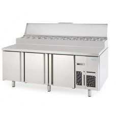 Infrico MR2190EN: 3 Door Refrigerated Prep Counter 800mm Deep - 625ltr