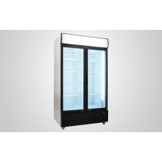 Kool UF800AL Double Hinged Glass Door Display Chiller