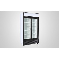 Kool UF800ALS Double Upright Sliding Door Display Chiller