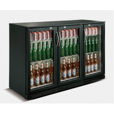 Kool NRLB2-SC338F Black Triple Hinged Door Bottle Cooler