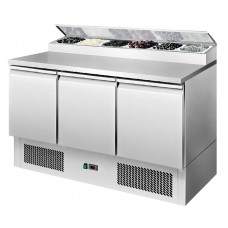 Interlevin ESS1365: 3 Door Refrigerated Preparation Counter - 380Ltr