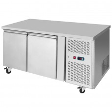 Interlevin PH20F: 2 Door Stainless Steel Gastronorm Counter Freezer - 271Ltr