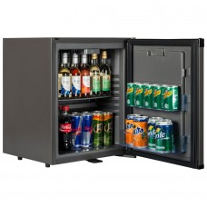 Tefcold TM32: Black Solid Door Minibar Fridge - 31Ltr