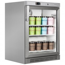 Tefcold UF200VGS: 120Ltr Undercounter Glass Door Display Freezer - Stainless Steel