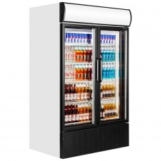 Tefcold FSC1200H: Hinged Glass Door Display Fridge 970 ltr.